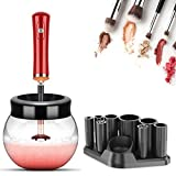 Makeup Brush Cleaner and Dryer Machine, YOYEWA Electric Cosmetic Automatic Brush Spinner with 8 Size Rubber Collars, Wash and Dry in Seconds, Deep Cleaner Solution Kit for Makeup Brushes