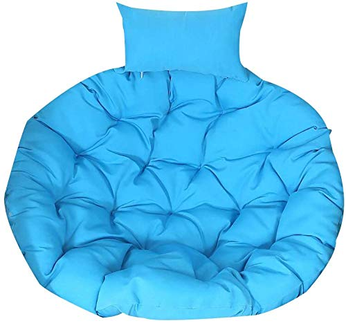 MGEE Chair Cushion Hanging Egg Hammock, Thickened Removeable Washable Hanging Chair Back with Pillow Round Rug Kids' Room(Color:F,Size:105x105cm(41x41inch))