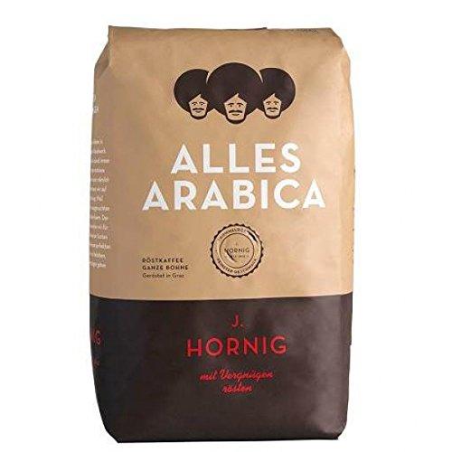Hornig Alles Arabica, ganze Bohne, 2er Pack (2 x 500 g)