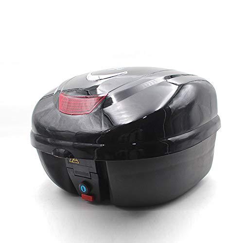 ZMCOV Motorradkoffer,Rollerkoffer, Topcase Abnehmbar Für Gepäck Helm Aufbewahrung, Robust Verschleißfest Langlebig,Schwarz
