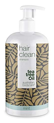 Australian Bodycare Champú Tea Tree Oil para cabello seco 500ml | Aceite árbol de té y menta | Anticaspa y picazón | Cuidado de cuero cabelludo para psoriasis, eczema, neurodermatitis y Granos