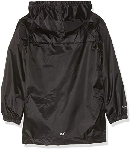 Regatta Unisex Kids Storm Break Waterproof Jacket, Black, 11-12 Years