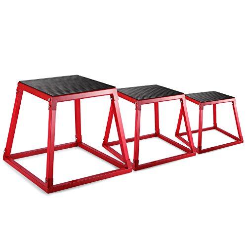OldFe Plyometric Boxes 30.5cm 45cm 61cm Plyometric Platform Jump Box Workout Platform Plyo Box Esercizio Plyo Box per Saltare