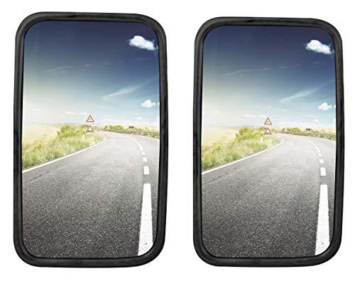 2x LKW, Transporter oder Bus Spiegel universal 36,5 x 18 cm Größe mit flexibler Halterung SET