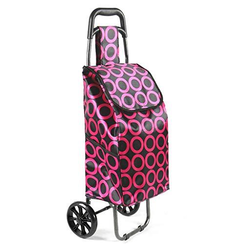ZYC-WF Shopping Carts Für Lebensmittel Mit Rädern Falten Tragbarer Gepäckwagen Trolley Anhänger Klein