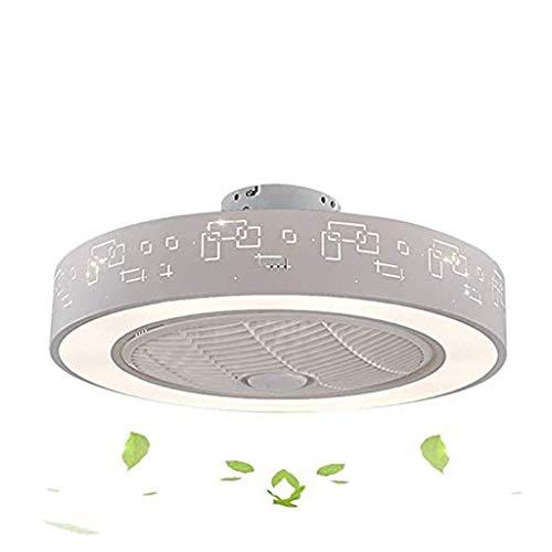 YWSZJ Habitación Ventilador de Techo lámpara, Moderno y Minimalista Sala de Estudio Comedor del Sitio de niños de Techo de la Sala silencioso Ventilador de la lámpara LED