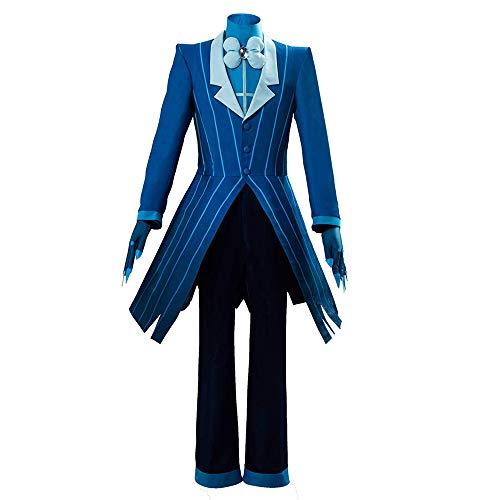 Shihong-G Hazbin Hotel Alastor Disfraz de Cosplay Demon Alastor Disfraz Chaqueta Trajes Conjunto Carnaval de Halloween Charlie Vaggie Alastor Uniforme Diario Trajes de Vestir para Mujeres Hombres