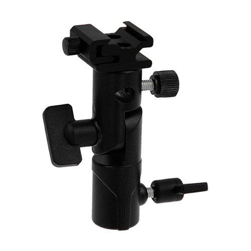 Fotodiox Flash-UMB-Tags-Elite-OM Fotodiox Elite soporte para sombrilla de Flash - giratorio/cabezal inclinable, con función de atril de luz para ensamblable y trípode - compatible con Olympus Flash FL-36R, FL-50R, Panasonic Flash DMW-FL360 y FL-500 - negro