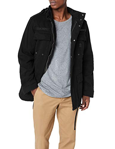 Brandit Herren Ryan M65 winterjacket Jacke, Schwarz (Black 2), XXX-Large