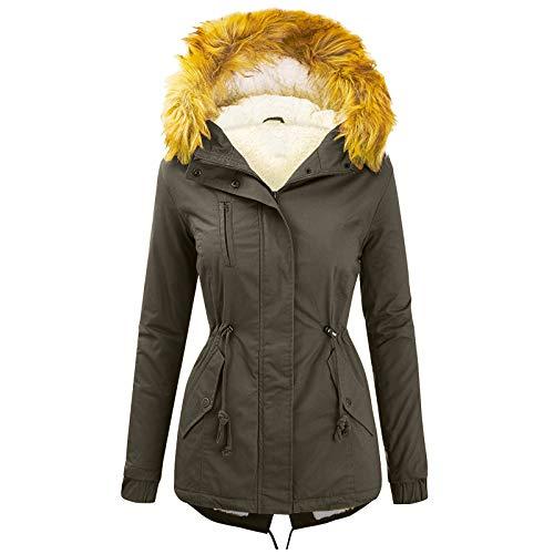 AILIEE Outwear Mode Solid Women Casual Dicker Winter Slim Coat Mantel Pullover Warme...