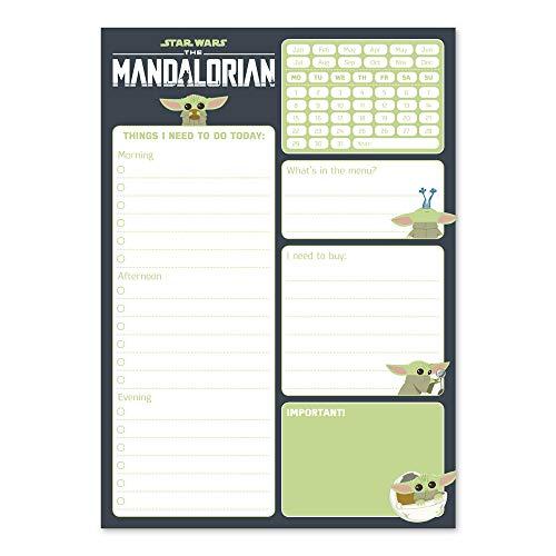 ERIK - Bloc notas de escritorio The Mandalorian, Baby Yoda, Grogu, (A5)