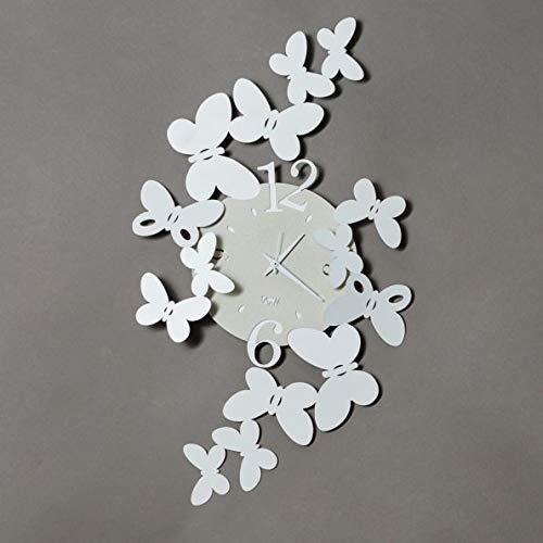 ARTI E MESTIERI cod. 3220C26 Orologio Papillon Bianco, Metallo 32x56H
