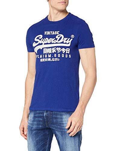 Superdry VL off Piste Tee T-Shirt, Mazarine Blue, L Uomo
