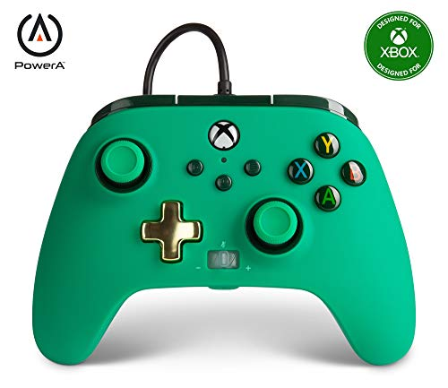 PowerA Enhanced Wired Controller for Xbox Series X|S - Green, Gamepad, Wired Video Game Controller, Gaming Controller, Works with Xbox One - Xbox Series X