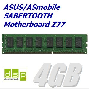 DSP Memory 4GB Speicher/RAM für ASUS/ASmobile Sabertooth Motherboard Z77