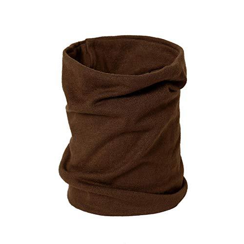 Schal Damen Winter Unisex Schals Weiche Warme Halsringe Für Frauen Damenschals Hohe Elastizität Mann-Kaffee