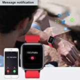 Willful Smartwatch Impermeable Reloj Inteligente con Pulsómetro, Pulsera Inteligente para Deporte con Cronómetro, Podómetro. Smartwatch Hombre Mujer para Android iOS Xiaomi Huawei iPhone