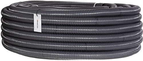 """HOLZBRINK Teichschlauch 35 mm (1 1/3"""") Spiralschlauch PVC Saugschlauch verstärkt, Länge: 15 m, HVS-04-15"""