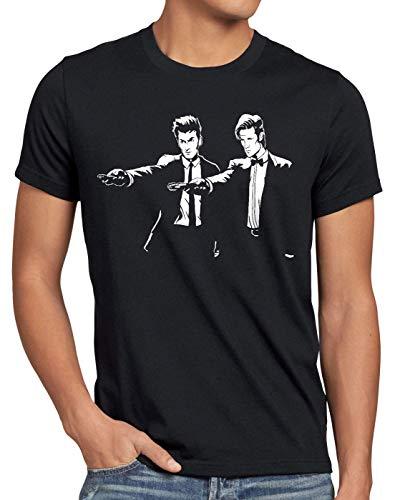 style3 Timelord Fiction T-Shirt Herren zeitreise Serie Polizei notrufzelle Tarantino Pulp, Farbe:Schwarz, Größe:5XL