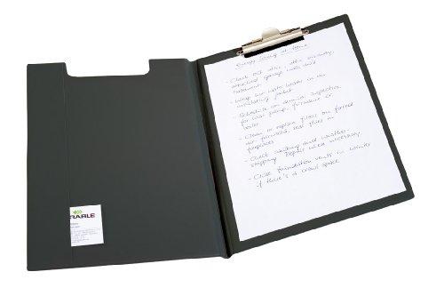 Durable 235701 Porte - Bloc avec Pince et Rabat - pour Bloc Format A4 - avec Poche Intérieure toute Hauteur Coloris Noir
