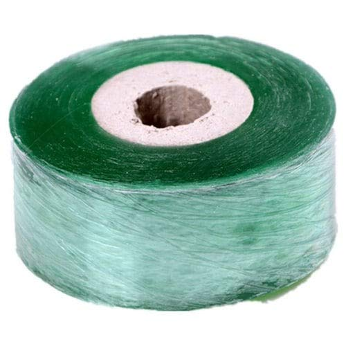 WZhen 3Cm X 100M / 1 Roll Grafting Tape Garden Tools Fruit Tree Secateurs Engraft Bran - Jungle Green