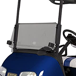 EZGO RXV Tinted Fold Down Impact Resistant Windshield for EZGO RXV Golf Cart - INSTALLS in Minutes