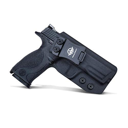 PoLe.Craft IWB Tactical KYDEX Gun Holster - Custom Fit - Smith & Wesson M&P Shield 9MM/.40 S&W Funda Pistola Case Inside Waistband Concealed Carry Holster Guns Accessories
