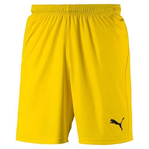 PUMA Herren Liga Shorts Core with Brief Hose, Cyber Yellow Black, M