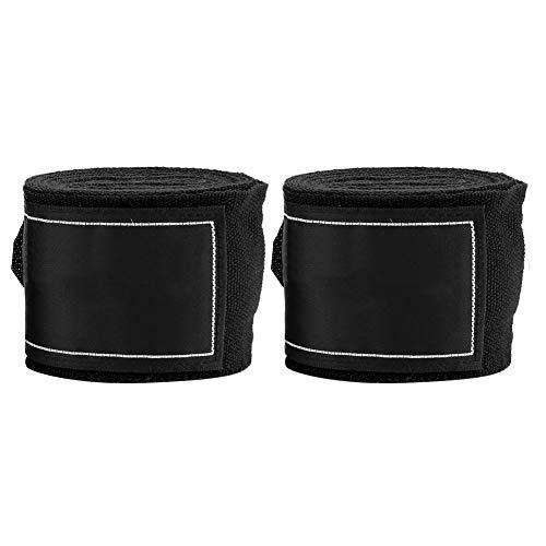 Dilwe Boxning handomslag, 2 st 2,5 m elastiskt band bandage vantar handlindor skydd inre handskar knytnäve skydd för boxning kampsport sanda muay thai MMA Taekwondo (svart)
