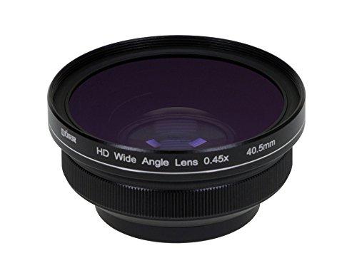 Dörr HD Weitwinkelvorsatz 0,45x Anschlussgewinde 40,5 mm für DSLR/DSLM Kamera/Bridge Kamera/Camcorder