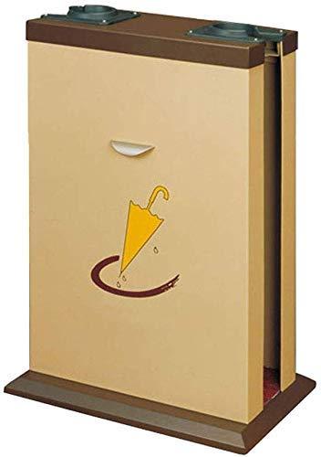JKCKHA Máquina de Acero Inoxidable del Hotel vestíbulo Bolsa de Doble Paraguas Paraguas máquina de Cabeza (Vino Tinto) Fácil de almacenar