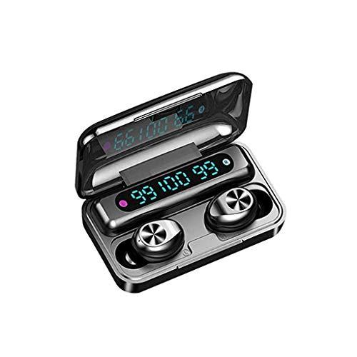 SMEJS Función Auricular Bluetooth Touch con la Caja de Carga inalámbrica estéreo de Auriculares en la Oreja Micrófono Incorporado Auriculares Deportes Subwoofer