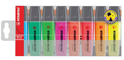 Stabilo Boss Original Marker, Pastellfarben, 8er Pack, 1