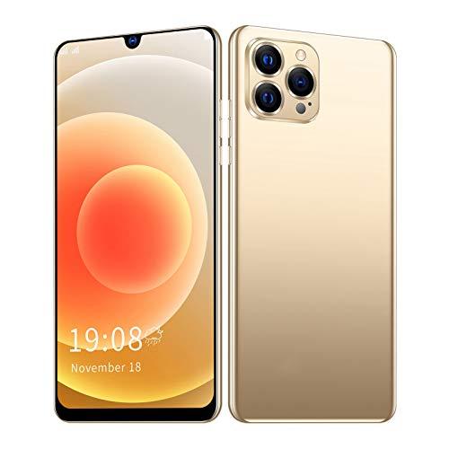 "Unlocked Cell Phones 3G, IP12 PRO+ Unlocked Smartphone Smart Phone, 6.26"" Waterdrop Screen, Dual SIM, 1GB RAM + 8GB ROM, 2MP + 5MP, Quad-Core Android 5.1, Fingerprint Lock & Face ID, GPS, WiFi(Gold)"