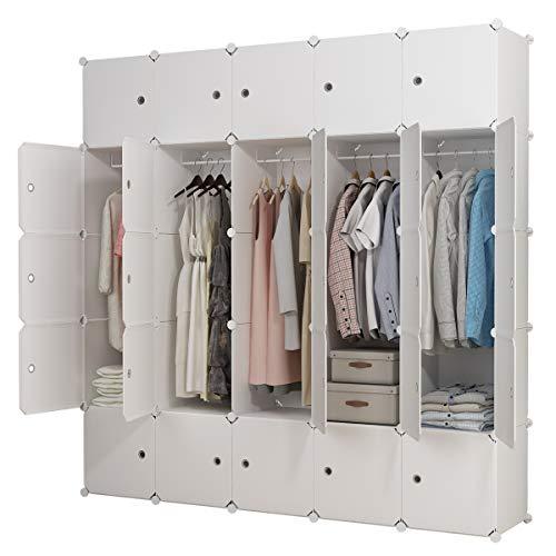 KOUSI Dresser Small Closet Wardrobe Drawer Storage for Clothes Small Wardrobe...