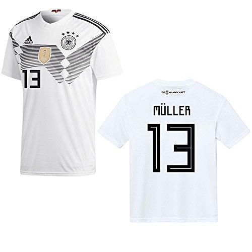 adidas DFB Deutschland Trikot Home Herren 2018/2019 - MÜLLER 13, Größe:L