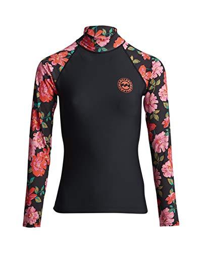 BILLABONG Damen Lycra Flower LS, Black Pebble, S, S4GY07