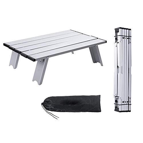 GU YONG TAO Mini Table Pliante de Pique-Nique de Plage avec Sac de Transport - Tables compactes en Alliage d'aluminium ultralégères, Rouille Pas Facile pour Ordinateur Portable de Voyage en Plein air