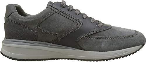 Geox Geox Herren U Dennie A Sneaker, Grau (Anthracite C9004), 45 EU