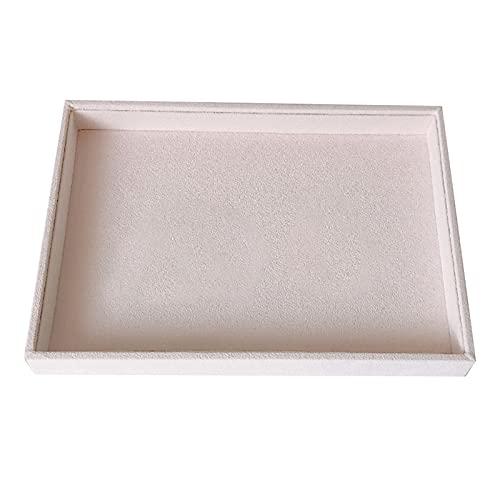 Caja de almacenamiento de joyería exquisita y dura Pantalla de anillo de joyería portátil Organizador Caja de bandeja de bandeja Pendientes Pendientes Brazalete Brazalete Caja de almacenamiento Showca