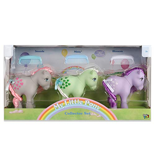 My Little Pony 35267 Retro Collector 3er Pack: Snuzzle, Minty, Blossom, Mehrfarbig