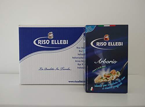 Riso Arborio ELLEBI - Box da 6kg - Riso Italiano 100% - 6 pacchi da 1kg