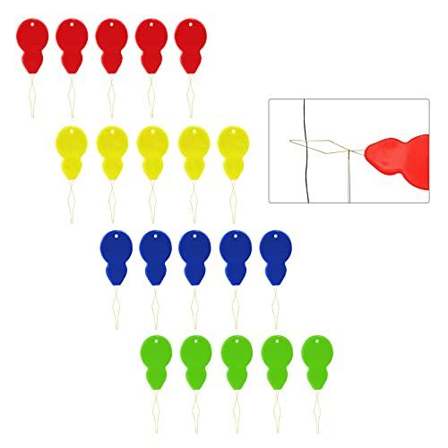 ITME 20 Piezas agujas de colores con alambre de latón en forma de calabaza, Enhebradores de Agujas de Plástico, Enhebrador enhebrador de máquina de coser, para coser y manualidades