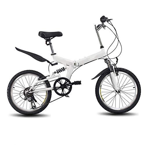 LYXQQ Unisex vouwfiets, compact opvouwbare fiets klein wiel diameter vouwfiets, 20 inch dubbele schijfrem vouwfiets, voor student, volwassen pendelstad