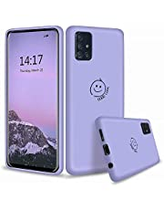 MUTOUREN Funda para Samsung Galaxy A71,Silicona líquida Compatible con Samsung Galaxy A71 /Anti-arañazos/Duradero/Protector Pantalla Cristal Templado/Púrpura