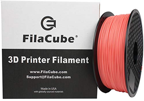 PLA 3D Printer 1.75mm Filament Living Coral (Color of The Year 2019, Coral hue with a Golden Undertone) - FilaCube PLA 2 1.75 mm 1kg 3D Plastic Filament [Made in USA] Pantone PMS 16-1546