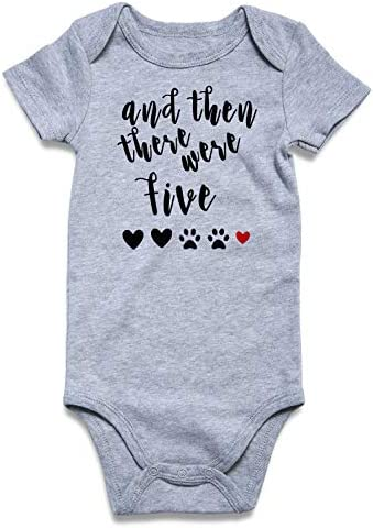 UNIFACO Unisex Newborn Clothes And Then There Were Five Pregnancy Announcement Onesie Baby Pajamas product image
