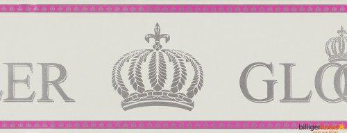 Glööckler Kindertapete Vlies Childrens Paradise 54162 Borte grau pink silber