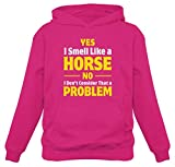 tstars smell like a horse funny gift for horse lover riding women hoodie x-large pink