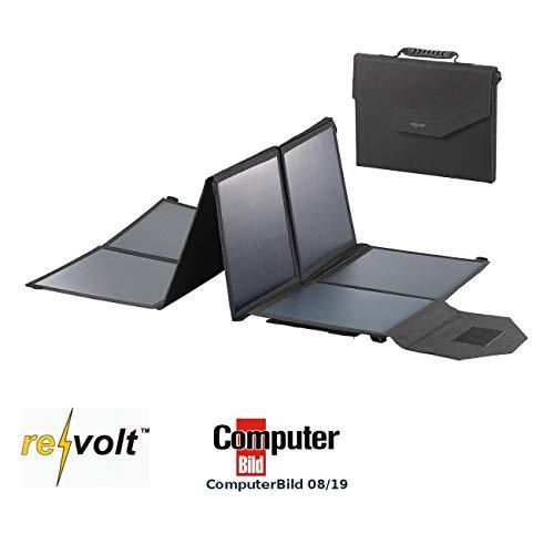 reVolt Solartasche: Mobiles, faltbares Solarpanel, 8 monokristalline Solarzellen, 100 Watt (Solarmodul faltbar)